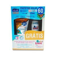 Kit Protetor Solar Gold Kids Bebê Love FPS 60 + repelente, spray com 100mL, grátis
