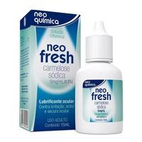 Neo Fresh 75mg, caixa com 1 frasco gotejador com 15mL de solução de uso oftálmico