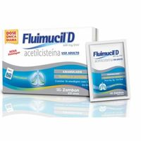 Fluimucil 120mg/g, caixa com 16 envelopes com 5g de granulado de uso oral