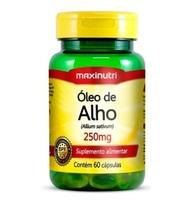 Óleo de Alho Maxinutri 250mg, frasco com 60 cápsulas
