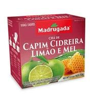 Chá Madrugada capim-cidreira, limão e mel, 6 caixas de 10 sachês cada