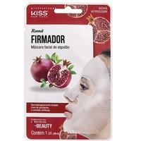 Máscara Facial de Algodão Kiss NY K-Beauty romã firmador com 1 unidade