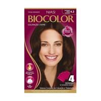 Tintura Creme Biocolor nº 4.3 castanho médio dourado