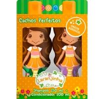 Kit Nutriex Laranjinha Cachos Perfeitos shampoo, 230mL + condicionador, 200mL + grátis, adesivo