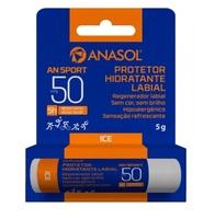 Protetor Hidratante Labial Anasol An Sport ice, FPS 50, 5g