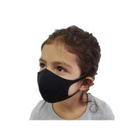 Máscara de Proteção Infantil Ideal preta com 6 unidades
