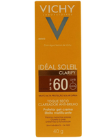 Protetor Solar Vichy Ideal Soleil Clarify moreno, FPS 60, 40g