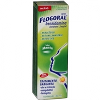 Flogoral 1,5mg/mL, caixa contendo 1 frasco spray com 30mL de colutório sabor menta