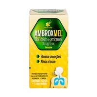 Ambroxmel 6mg/mL, caixa com 1 frasco com 120mL de xarope adulto, mel/eucalipto