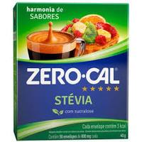 Adoçante Zero-Cal Stevia 50 Envelopes, 40g