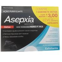 Sabonete Asepxia detox, barra com 80g + R$ 3,00 leve sabonete, esfoliante, barra com 80g
