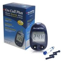 Monitor de Glicose On Call Plus II - 1 unidade + lancetas com 10 unidades + lancetador