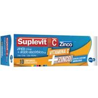Suplevit C Zinco 10mg + 1g, caixa com 10 comprimidos
