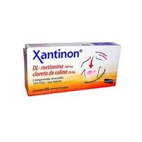 Xantinon 100mg + 20mg, caixa com 10 comprimidos revestidos
