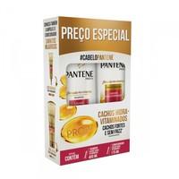 Kit Pantene Cachos Hidravitaminados Shampoo 400mL + Condicionador 175mL