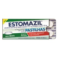 Estomazil Pastilha 230mg + 185mg + 185mg, blíster com 10 comprimidos mastigáveis, menta