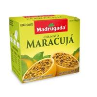 Chá Misto Madrugada maracujá, 6 caixas de 10 sachês cada