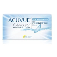Lentes de Contato Acuvue Oasys Astigmatismo grau +0.00 e -2.25, 3 pares