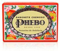 Sabonete Cremoso Phebo Mediterrâneo Nectarina da Andaluzia, barra, 100g