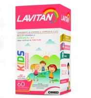 Lavitan Kids 60 Comprimidos Mastigáveis, Tutti Frutti