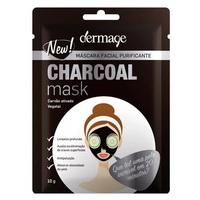 Máscara Facial Purificante Dermage Charcoal Mask sachê, com 10g