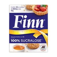 Adoçante Finn Sucralose - sachê, 50 unidades