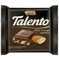 Barra de Chocolate Talento meio amargo e amêndoas com 25g