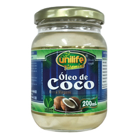 Óleo de Coco Unilife extravirgem, líquido, pote com 200mL