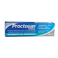 Proctosan 0,5% + 2% + 2% + 10%, caixa com 1 bisnaga com 20g de pomada de uso retal + 1 aplicador