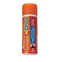 Vitamina C + Zinco Katiguá 250mg, frasco com 30 cápsulas gel