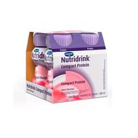 Suplemento Alimentar Nutridrink Compact Protein - morango, 125mL, 4 unidades