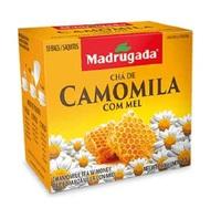 Chá Madrugada camomila e mel, 6 caixas de 10 sachês cada