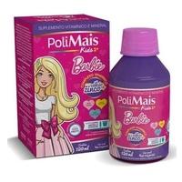 Suplemento Alimentar Infantil Polimais Kids Barbie, 4+ anos, tutti-frutti com 120mL