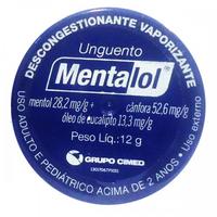 Mentalol 28,2mg + 52,6mg + 13,3mg, pote com 12g de unguento