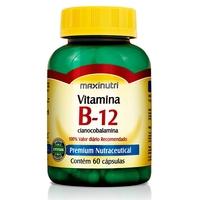 Vitamina B-12 Maxinutri frasco com 60 cápsulas