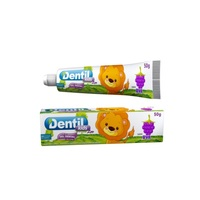 Gel Dental Dentil Kids 3+ meses, zoo, uva com 50g