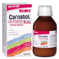 Carnabol Kids caixa com 1 frasco com 120mL de suspensão de uso oral + 1 copo medidor