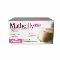 Matherlly Gest caixa com 30 comprimidos revestidos