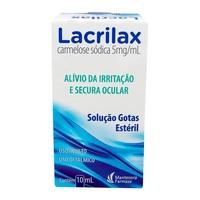 Lacrilax 5mg/mL, caixa com 1 frasco gotejador com 10mL de solução de uso oftálmico