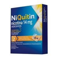NiQuitin Adesivo 14mg, caixa com 7 adesivos transdérmicos transparentes