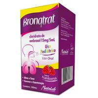 Bronqtrat 15mg/5mL, caixa com 1 frasco com 100mL de xarope + copo medidor, infantil, sabor framboesa