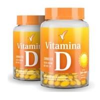 Vitamina D Eleve 2000UI, 500mg, 2 frascos com 30 cápsulas cada