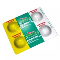 Naldecon Dia 800mg + 20mg, blíster com 4 comprimidos