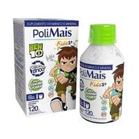 Suplemento Alimentar Infantil Polimais Kids Ben 10, 4+ anos, guaraná com 120mL