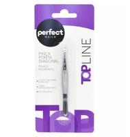 Pinça Profissional Perfect Nails top line, ponta diagonal