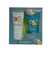 Kit Verão Orgânica coconut, shampoo com 250mL + máscara condicionante com 150mL