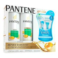 shampoo, 400mL + condicionador, 200mL + aparelho Gillette Venus Oceana