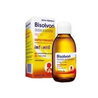 Bisolvon 0,8mg/mL, caixa com 1 frasco com 120mL de xarope expectorante de uso infantil