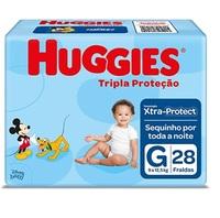 Fralda Huggies Turma da Mônica Tripla Proteção G, pacote com 28 unidades