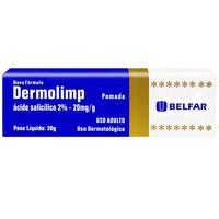 Dermolimp 20mg/g, caixa com 1 bisnaga com 30g de pomada de uso dermatológico